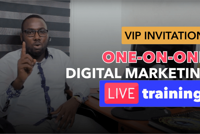 VIP Invitation To My One-On-One Digital Marketing Live Training