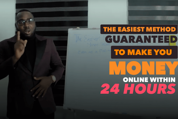 The Easiest Method Guaranteed to Make You Money Online Within 24 Hours.