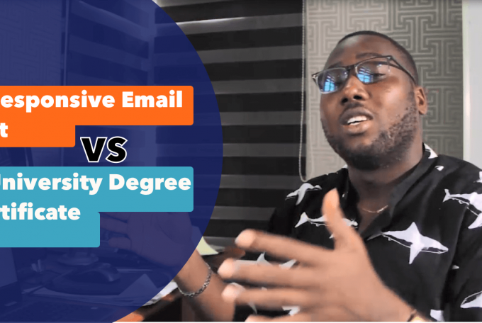 A Responsive Email List VS A University Degree Certificate
