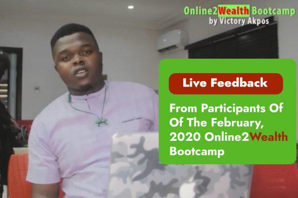 Online2wealthBootcamp 1
