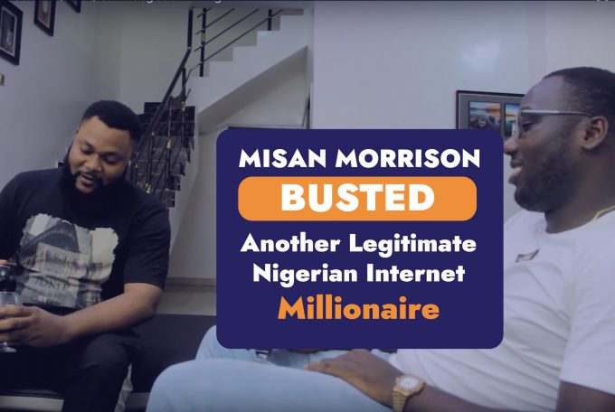 Misan Morrison BUSTED! Another Legitimate Nigerian Internet Millionaire